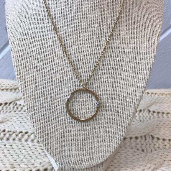 {Canvas} Gold Silver Circle Necklace